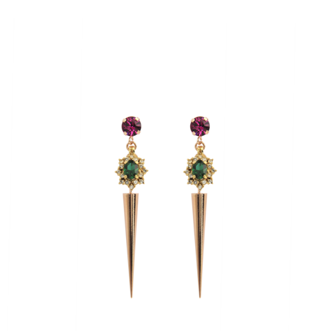 Boucles Spike Crystal Cluster - Anton Heunis -Monnier Frères