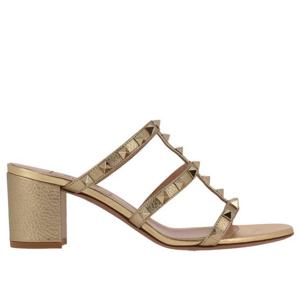 Valentino Garavani women shoes gold