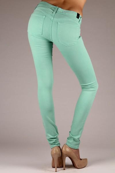OCJ Original Slate Skinny Jeans in Mint | Original College Jeans - OCJ Apparel