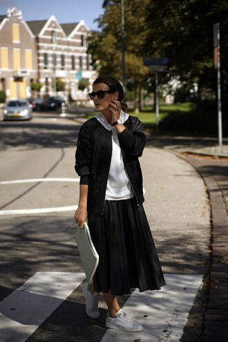 fashion zen blogger top jacket bag sunglasses jewels skirt shoes