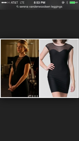 little black dress serena van der woodsen sheer dress