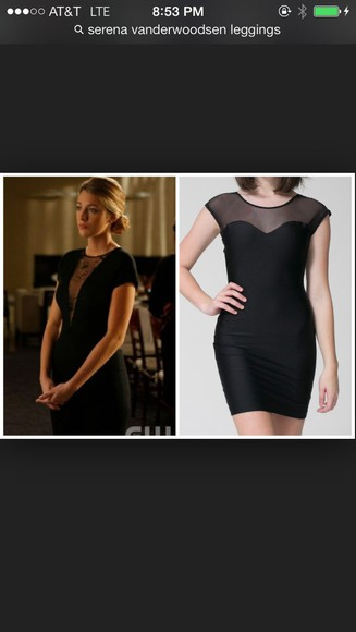 serena van der woodsen little black dress sheer dress