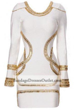 White Sequined Long Sleeve Bandages Dress On Sale [White Sequined Long Sleeve] - $152.00 : Cheap Bandage Dresses Online, Wholesale Price Bandage Dresses Outlet