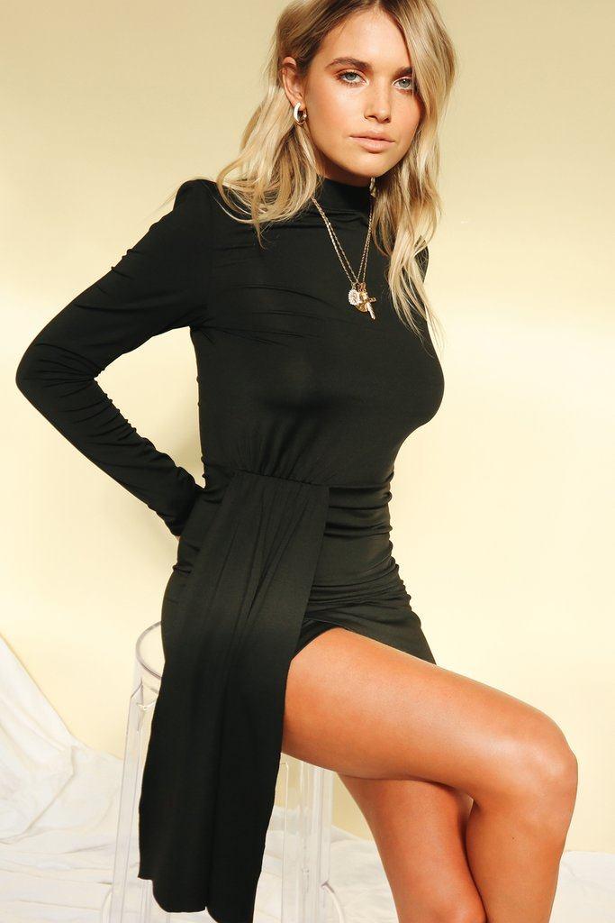 Back To Black Mini Dress // Black