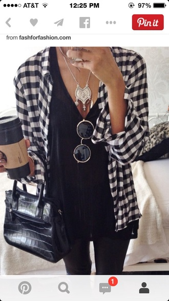 v neck blouse black v neck shirt plaid button down flannel