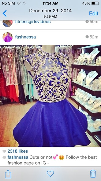 dress homecoming short blue cute