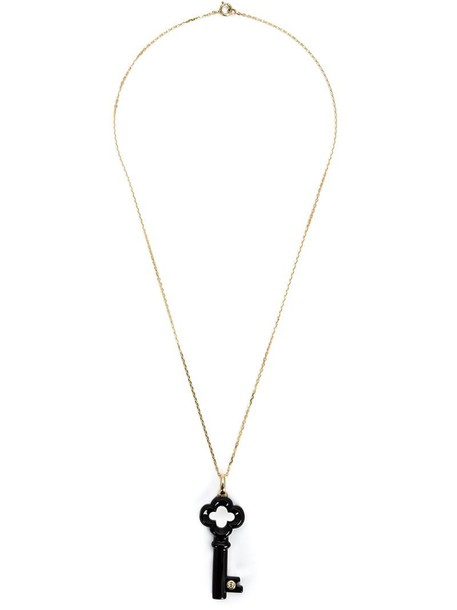 Kristin Hanson women necklace gold black jewels