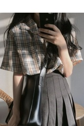 blouse,girly,girl,girly wishlist,plaid,button up,button down shirt,button up blouse,burberry style,burberry