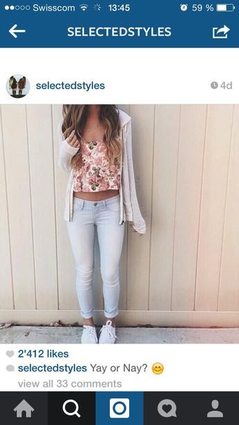 top white flower flower shirt t-shirt floral tank top floral shirt