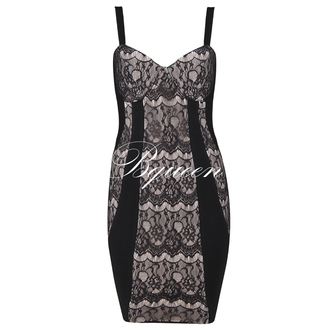 dress girl fashion bqueen chic sexy party evening dress event lace black straps bodycon game of thrones bandage