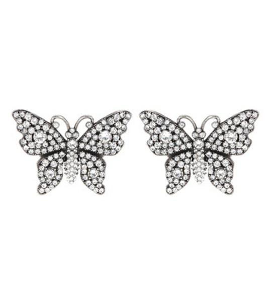 gucci butterfly earrings silver jewels