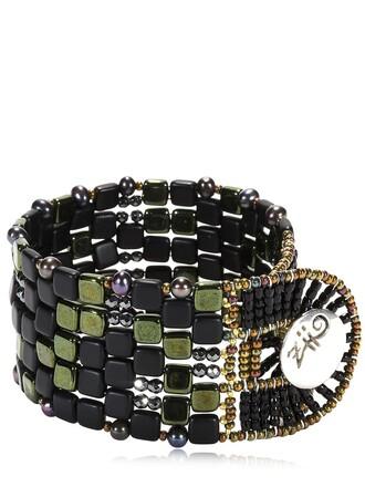 beaded bracelet beaded black jewels