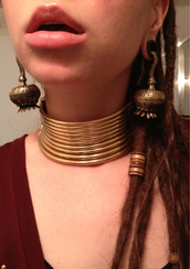 jewels,adornments,dinka influence,burma influenced jewelry,padaung influenced jewelry,high choker,unique jewelry,ethnic jewellery
