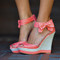 Restock: sass with a bow wedge: coral | hope's