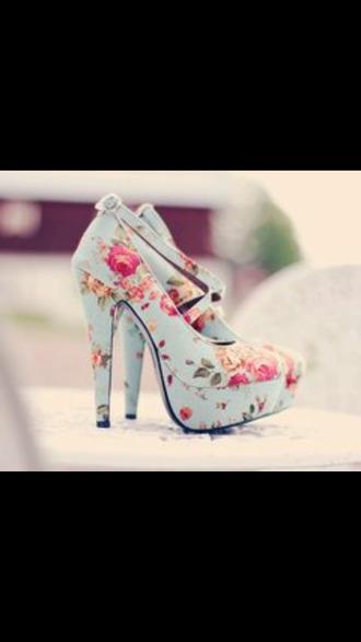 shoes floral high heels heels floral