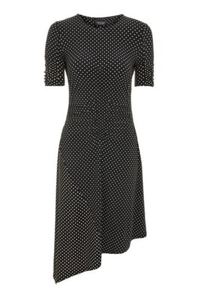 Topshop dress midi dress midi black