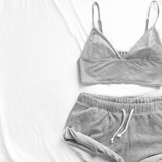 top grey t-shirt grey gray t-shirts gray grey tops gray top tank top crop tops crop top bustier shorts