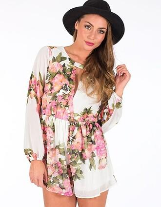 romper floral floral jumpsuit jumpsuit