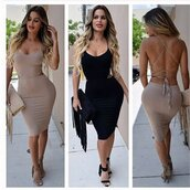 dress,lace up,lace up dress,strappy,strappy dress,bodycon,bodycon dress,black bodycon dresss,black,midi,midi bodycon dress,black bodycon dress,backless dress,backless,open back,strappy back,strappy back dress,lace up back,black midi dress,sleeveless dresss,hollow out,two-piece,two piece dress set,party dress,black party dress,clubwear,club dress,party outfits,casual,sexy,fashion,midi dress,hot,hot dress,sexy dress,black strappy dress,nude dress