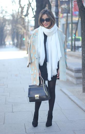 besugarandspice blogger coat sunglasses scarf leather bag