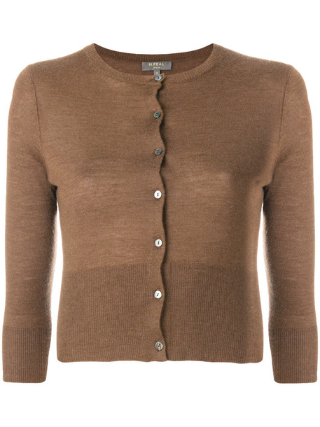 N.Peal cardigan cardigan cropped women brown sweater