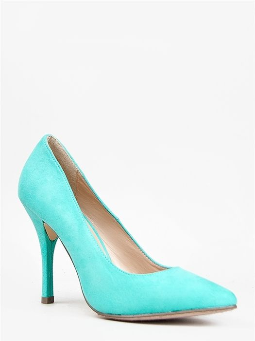 New Breckelles Women Basic Pointed Toe High Heel Pump Aqua Green Sz Mint HOLLY41 | eBay