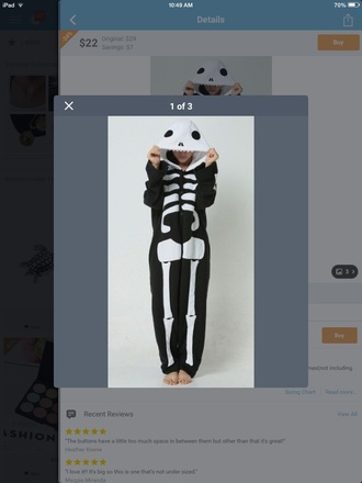 pajamas skull onesie onesie skull cute dress lovely