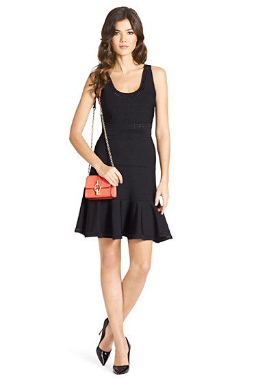 Perry Structured Knit Flared Dress | Dresses by DVF