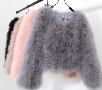 any color sweater sweet coat grey coat beautiful cardigan jumper fluffy black pink grey nude zwart