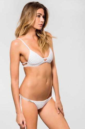 swimwear bikini bottoms cheeky skimpy white