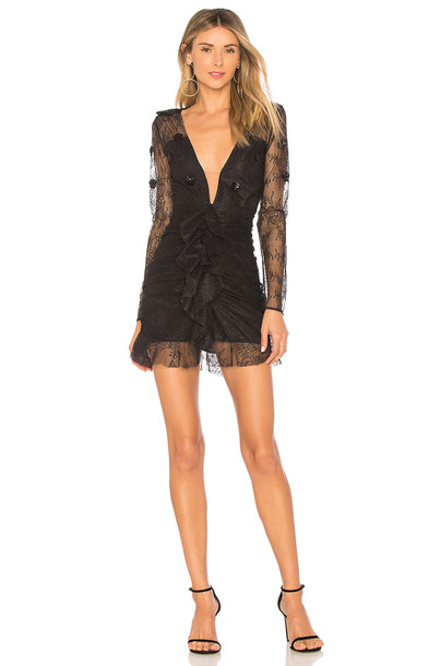 For Love & Lemons dress mini dress mini daisy lace black