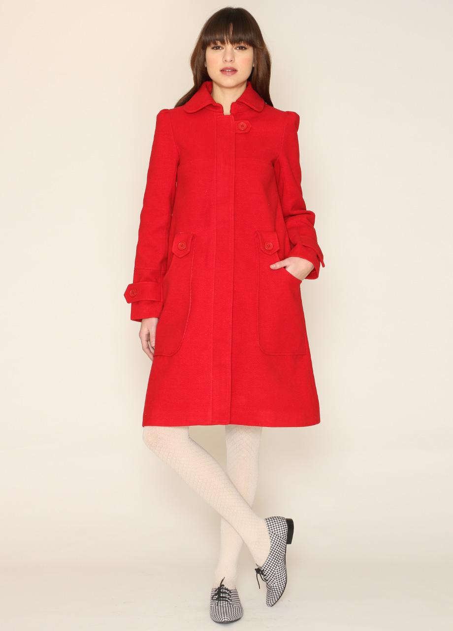 Coat leslie red