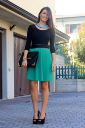 style and trouble,skirt,shoes,bag,belt,jewels