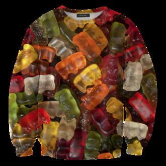 sweater food gummy bears food sweater food clothing printed sweater