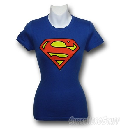 Superman jr  womens symbol t