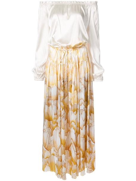 Adriana Iglesias dress maxi dress maxi women spandex white silk