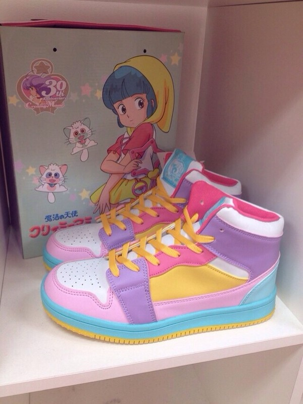 shoes anime pastel pink purple yellow turquoise light blue blue dope shoes dope sweet cute kawaii