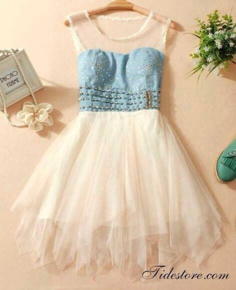 blue and white dress pretty denim dress short dress gorgeous cute beautiful denim dres
