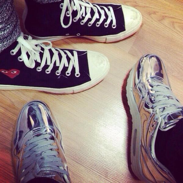 shoes nike chrome tumblr