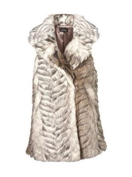 fashion vest faux fur jacket fall