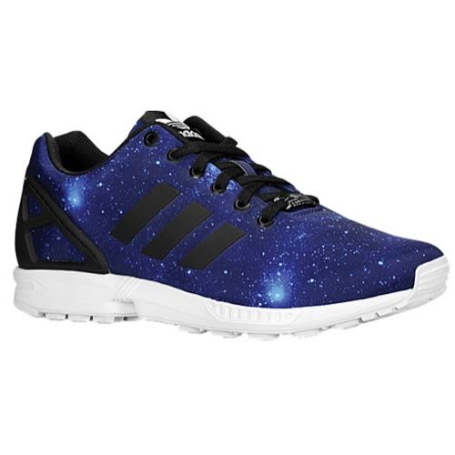 e91dffcb8 NEW Adidas Originals ZX FLUX Blue GALAXY Stars Print Shoes Multi Mens Womens