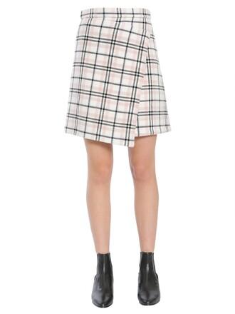 skirt wrap skirt short multicolor