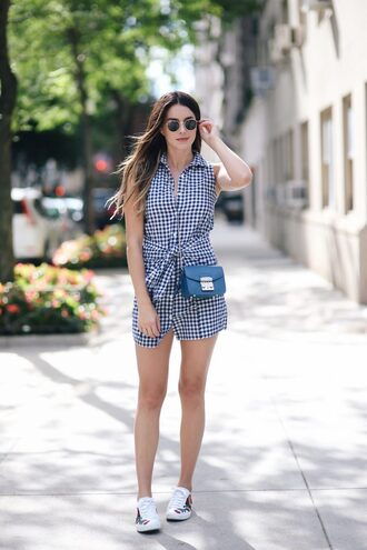 shoes gucci ace sneakers gucci gucci shoes sneakers white sneakers embroidered low top sneakers checkered mini dress summer dress summer outfits shirt dress sleeveless sleeveless dress bag blue bag crossbody bag sunglasses