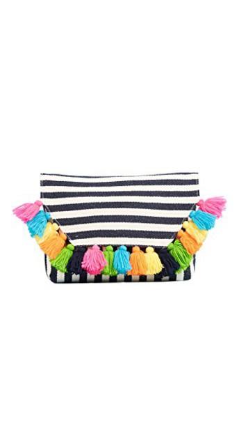 JADEtribe tassel clutch bag