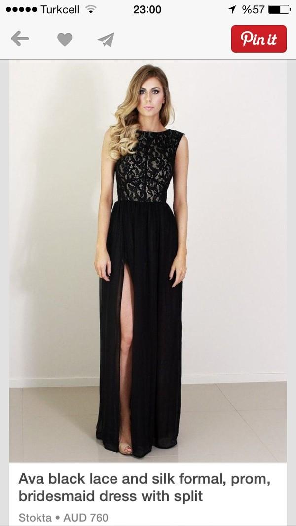 dress black maxi dress