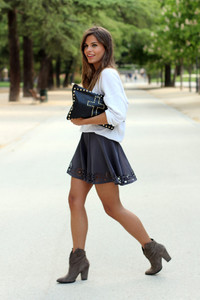 skirt clothes black black skirt pattern bag