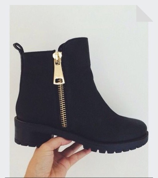black boots ankle boots winter boots shoes