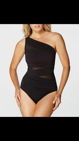 swimwear black plus size swimwear