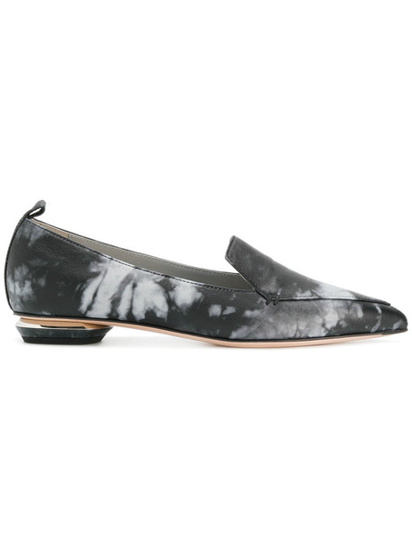 women loafers leather grey shoes