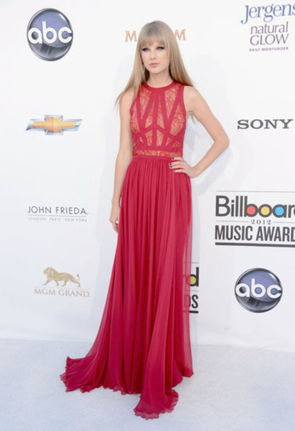taylor swift red dress lace dress gown dress